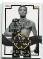 2016 Conor Mcgregor Topps UFC Top of the Class Card #TOC1