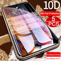 For iPhone X XS Max XR 10D Full Cover Curved Tempered Glass Screen Protector-SL