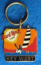KEY WEST FLORIDA SAILING SHIP YACHT SUNSET KEYCHAIN RING Hard Rock Cafe not pin