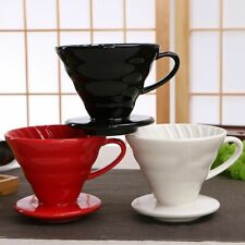 Ceramic Coffee Drip Filter Cup Engine V60 Style Permanent Pour Over Dripper Mug