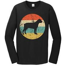 Mens Cane Corso Shirt - Retro Dog Breed Long Sleeve T-Shirt - Cane Corso T-Shirt