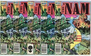 The 'Nam #1 (5 copies)  avg. NM-/NM 9.2/9.4  Marvel  1986  No Reserve