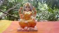 Lakshmi Déesse Hindou Statue Marbre Sculpture 2 kilos Vishnou Inde Temple Laxmi