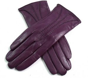 Ladies Womens Premium Quality Real Super Soft Leather Gloves Fully Lined Warm