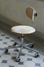 Vintage Industrial Office Chair chrome wheels