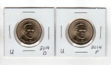 2014 Calvin Coolidge Presidential Dollar, 2-coin set (P and D) Uncirculated