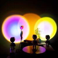 LED Sun Sunset Light Rainbow Projection Desk Lamp Home Decor USB Night Lights!