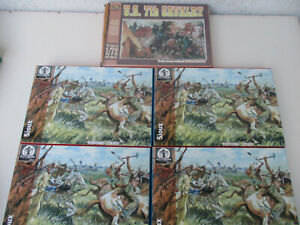 Battle of Little Big Horn Western Cowboy & Indian Toy Soldier Cavalry Sioux 1/72