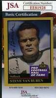 Steve Van Buren 1991 Enor Hall Of Fame Jsa Cert Hand Signed Authentic Autograph
