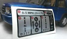 Land Rover Discovery D2 Etiqueta de Advertencia Automático Transmisión
