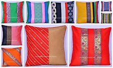 50 PC Wholesale Lot Cushion Cover Raw Silk Pillow Case Sofa Decor Throw Handmade