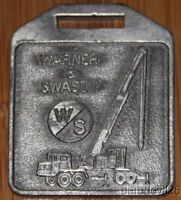 Vintage Warner & Swasey Construction Equipment Metal key chain badge
