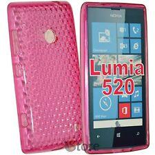 Cover For Nokia Lumia 520 Fuchsia Gel silicone TPU silicone