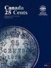 WHITMAN Canada 25 Cents Quarters Number 1 One 1870-1910 Folder Album #2481