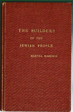 1956 BUILDERS OF JEWISH PEOPLE ANCIENT TIMES TO PRESENT TIME By Martha Marenof