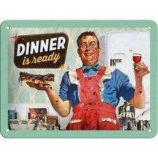 Gourmet Plaque de Cuisine en Tôle style vintage / rétro Publicité 15x20cm