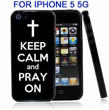 Black Keep Calm and Pray On For Iphone5 5G Case Cover