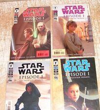 Star Wars Phantom Menace TPM Dark Horse series V1-4 set  w picture covers.  215