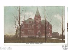 Vtg Postcard Dunkirk Ind North School IN Indiana Early 1913