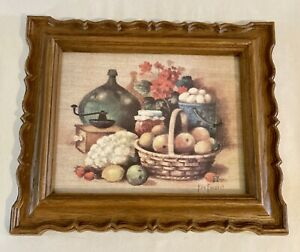 Vintage ©1981 Fresh From the Farm Framed Print by Ken Forrest HOMCO 13 X 11