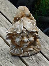 Wichtel Seppl klein Troll Gnom Gartenfigur Gartenzwerg Steinfigur Skulptur