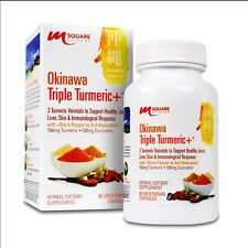 Okinawa Triple Turmeric +® with Black Pepper - 60 Vegetarian Capsules