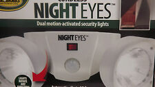 CORDLESS NIGHT EYES DUAL MOTION ACTIVATED SECURITY LIGHTS