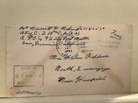 U.S. Army Post Examiner passed 1943 Townsville Australia cover Ref R25490