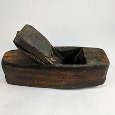 antique patent W Butcher CARPENTER COFFIN WOOD MOLDING PLANE TOOL lancaster pa
