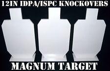 12in. tall IDPA Knock-overs - 3/8in. Pistol Targets - 3pc. Steel Target Set