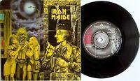 """IRON MAIDEN 1980 WOMEN IN UNIFORM b/w INVASION 7"""" VINYL 45 (EMI 5105)"""