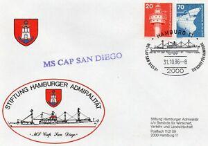 Schiffspost Sonderbrief MS Cap San Diego vom 31.10.1986