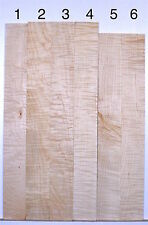 Guitar Luthier CURLY TIGER FLAME MAPLE Fretboard fingerboard Blanks F11