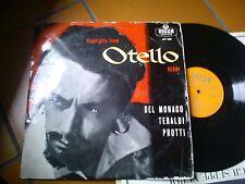 """LP 12"""" HIGHLIGHTS FROM OTELLO MARIO DEL MONACO TEBALDI PROTTI ALBERTO EREDE COND"""