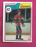 1983-84 OPC # 185 CANADIENS GUY CARBONNEAU ROOKIE NRMT-MT CARD (INV# C4406)
