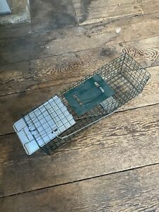 ***Used Advantek Green Metal Wire Trap Small Animal 24 Inch Mole Gopher Skunk***