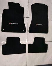 Fit 06-12 Lexus IS350 IS250 Black Nylon Floor Mats Carpet W/ Emblem F-Sport