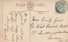Miss Emily Grist, c/o West Central Hotel, 11 Southampton Row 1909 'Mabel' JZ3.57