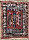 "5'8"" x 4'2"" Vintage Shirvan Carpet Caucasian Rug Kazak Handmade Oriental Rug"