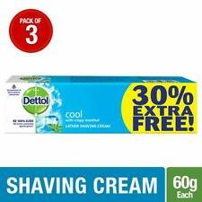 Dettol Cool Shaving Cream - 60 g (Pack of 3) + Free Shipping