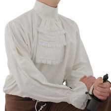 Renaissance Napoleon Shirt Lace Sleeves & Cravat Reenactor Cosplay Unisex L & XL