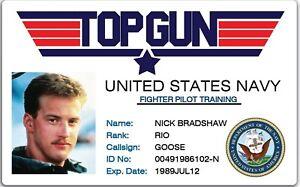 TOP GUN ID Card - Goose or Custom Printed