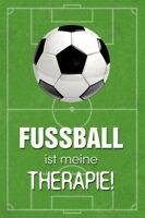 Fútbol Ist Meine Terapia Letrero de Metal Arqueado Tin Sign 20 X 30Cm