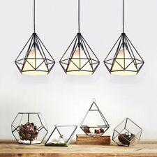 3PK Kitchen Pendant Lights 25cm Modern Hanging Cord Lamp Fitting Black White new