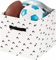 Storage Cube Bin  Arrow Fabric , Medium Basket Container with Dual Side