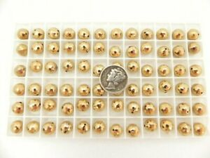 Swarovski 5083 Comet OR (24K Gold) 8mm Crystal 1/2 Drill Vintage Bead (6 pieces)