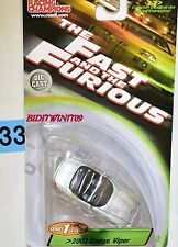 RACING CHAMPIONS THE FAST AND THE FURIOUS 2003 DODGE VIPER SILVER W+
