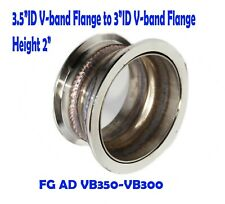 """3.5""""ID V-band Flange to 3""""ID V-band Flange Steel Adapter 2 """" Height"""