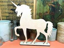 WOODEN FREESTANDING UNICORN Shapes 20cm (x1) table decoration wood ornament