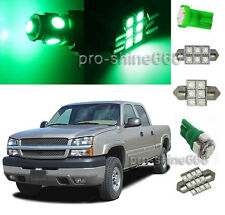 Green SMD LED Interior 15X Lights Package FOR Chevrolet Chevy Silverado 1999 200